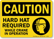 OSHA Caution Wear Hard Hats Sign