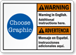 Bilingual ANSI Warning / Advertencia Custom Sign