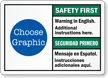 Bilingual ANSI Safety First Sign