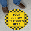 Custom 17in. Circular Pebble Finished Floor Sign