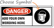 Personalized Danger Faceshield Required Sign