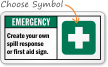 Custom First Aid Sign