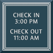 Azteca Custom General Information Sign with Border, 7.875in. x 7.875in.