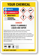 Custom GHS Chemical Danger and HMIG Combo Sign