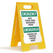 Custom Bilingual FloorBoss XL™ Standing Floor Sign