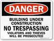 OSHA Danger Sign