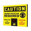 OSHA Caution Industrial Decibel Meter Sign