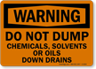 Waste Solvents OSHA Warning Sign