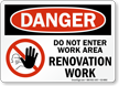 Under Construction OSHA Danger Sign