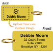 2-Sided Custom Brass Key Chain Tag