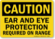 OSHA Caution Shooting Range Sign