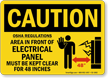 OSHA Caution Do Not Block Electrical Panel Sign