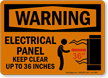 OSHA Warning Do Not Block Electrical Panel Sign