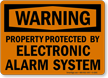 Security Alarm Warning Sign
