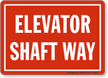 Elevator Warning Sign
