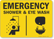 Eye Wash And Shower Sign