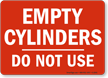 Red Empty Cylinder Sign