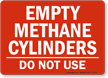 Gas Cylinder Compressed Gas Sign