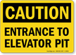 Elevator OSHA Caution Sign