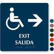 Bilingual TactileTouch™ Braille Sign, 9in. x 9in.