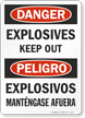 Bilingual OSHA Danger / Peligro Glow Sign