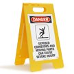 FloorBoss XL™ OSHA Danger Folding Floor Sign