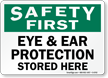 Safety First PPE Sign