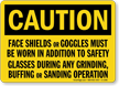 OSHA Caution Faceshield Required Sign