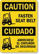 OSHA Bilingual Caution/Cuidado Sign