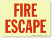Glow-In-The-Dark Fire Escape Sign