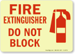 Glow-In-The-Dark Fire Extinguisher Sign