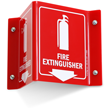 Projecting Fire Extinguisher Sign