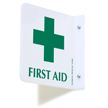 2 Sided Projecting First Aid Sign