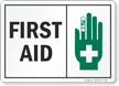 Emergency Medical Equipment Area Sign and Label