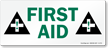 First Aid Sign and Label