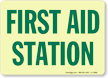 Glowing First Aid Sign