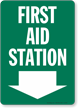 Emergency Station Location Sign