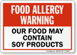 Allergy Warning Sign