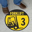 Circular Forklift Floor Sign