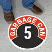 Garbage Can Floor Sign