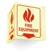 Glow-In-The-Dark Fire Equipment Projecting Sign, 6