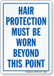 Hair Protection Safety Sign