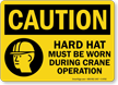 OSHA Caution Wear Hard Hat Sign