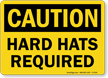 Caution OSHA Wear Hard Hat Sign