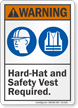 ANSI PPE Warning Sign