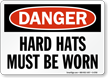 OSHA Danger Head Protection Sign