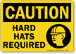 OSHA Caution Wear Head Protection Sign
