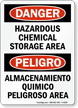 Bilingual Danger Sign