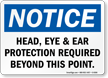 OSHA Notice Wear PPE Sign