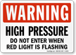 Do Not Enter - Flashing Light Sign